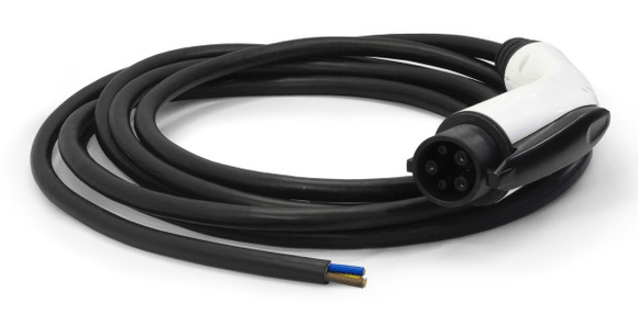 <b>ITT CANNON - Type 1 & 2 ladekabel m/ pigtail</b><br>32A - 1-fas & 3-fas
