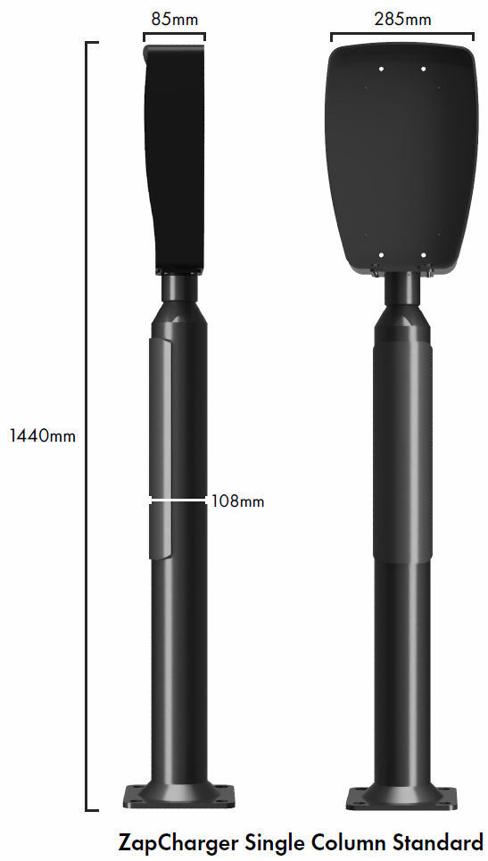 Standard ladestolpe for ZapCharger Pro
