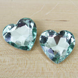 2 | Faceted Heart Crystals | 27mm