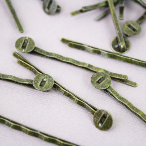 10 | Antique Bronze Bobby Pins | 8mm
