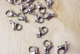 4 | Stainless Steel Lobster Clasps | 15x9mm