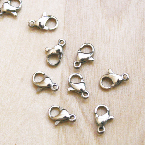 10 | Stainless Steel Lobster Clasps | 10x6mm