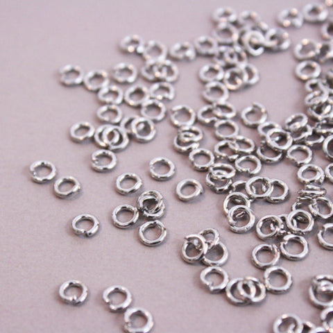Jump Rings 20g | 4mm | Antique Silver