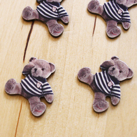 4 | Teddy Bear Cabochons | 22x24mm
