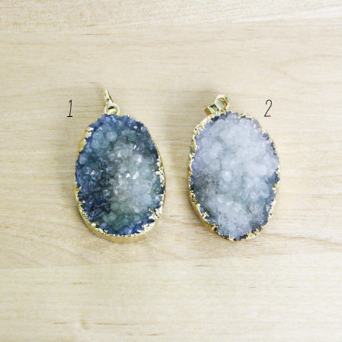 1 | Gold Dipped Druzy Pendant