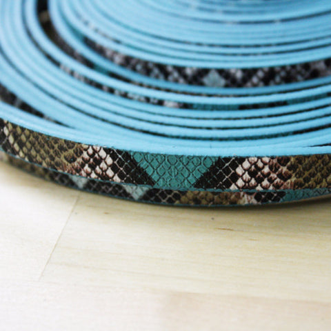 1 | Snake Print Faux Leather Strap | 10mm