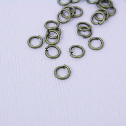 Jump Rings 18g | 6mm | Antique Bronze