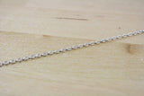 Spool of Antique Silver Plated Oval Cable Chain | 3x2mm