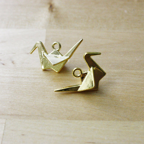 4 | Paper Crane Charms | 21x30mm