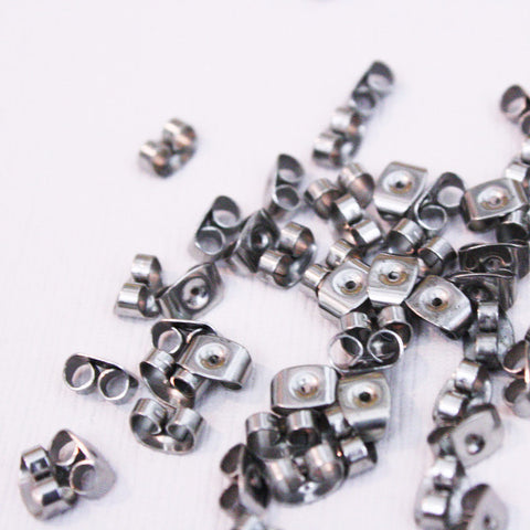 Stainless Steel Earring Backs | 4x6.5mm