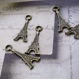 6 | Antique Bronze Eiffel Tower Charms | 32x12mm
