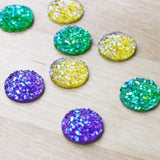 10 | Faux Druzy Cabochons | Mermaid | 12mm