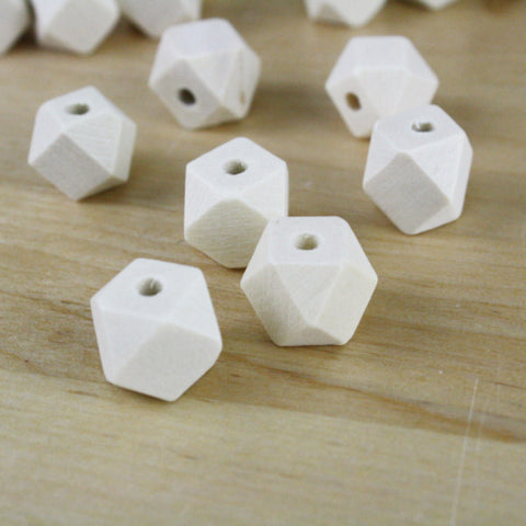 10 | Geometric Wood Beads | 12mm