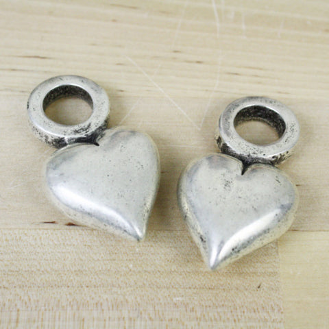 1 | Heart Pendant | VINTAGE | 28x52mm