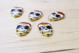 4 | Sugar Skull Charms | 12x22mm