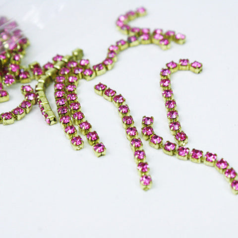 2 | Swarovski Chain Strands | VINTAGE | 3mm