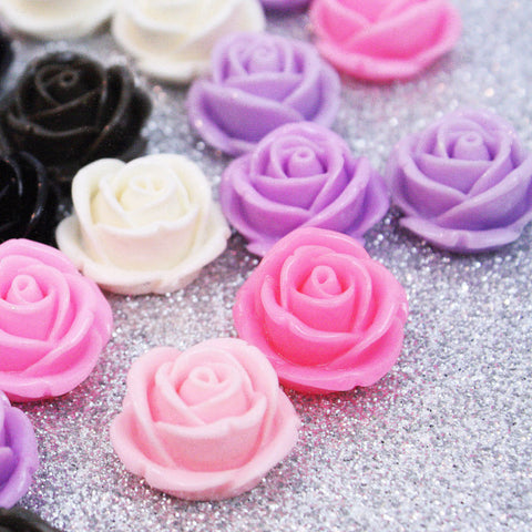 10 | Rose Acrylic Cabochons | 14mm