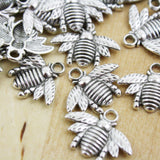 20 | Bee Charms | 15x20mm | BRONZE | GOLD | SILVER
