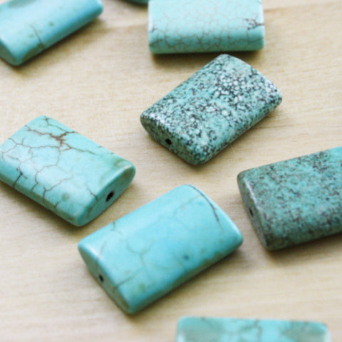 4 | Turquoise Natural Gemstone Beads | 18x25mm