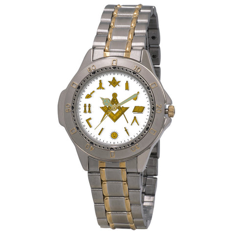Masonic PMB12 - Square and Compass Bracelet Watch