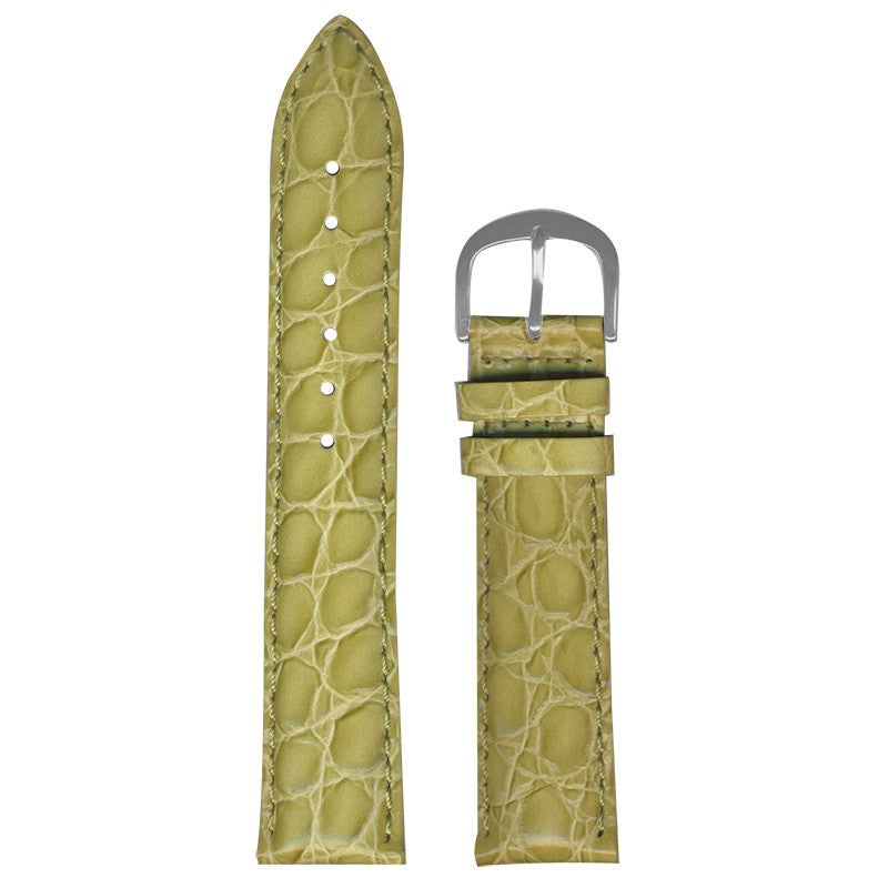 Lime Croco-Grain Strap