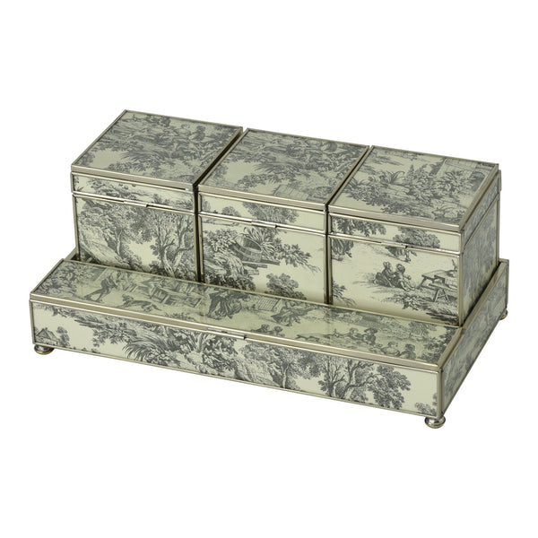 Three Box Set - Black Toile