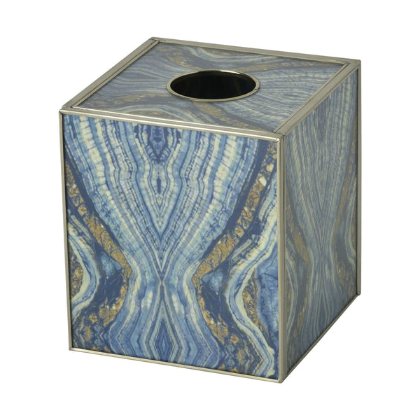 Tissue Box - Blue Quartz