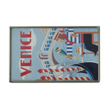 Nickel and Glass Matchbox Cover - Harry's Bar Venice