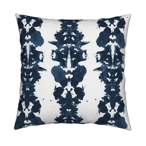 Rorschach Linen Cotton Canvas Pillow - Made In-House