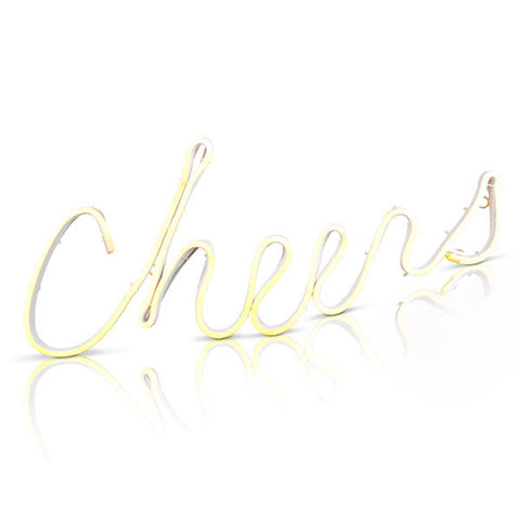 Neon LED Cheers Sign - 21""