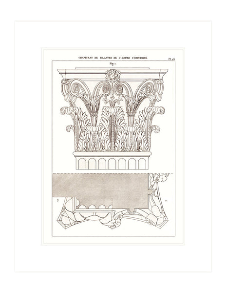 Antique Architectural Rendering - Corinthian Columns