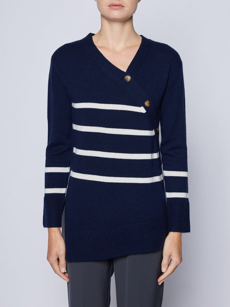 Mattie Cashmere Stripe Sweater