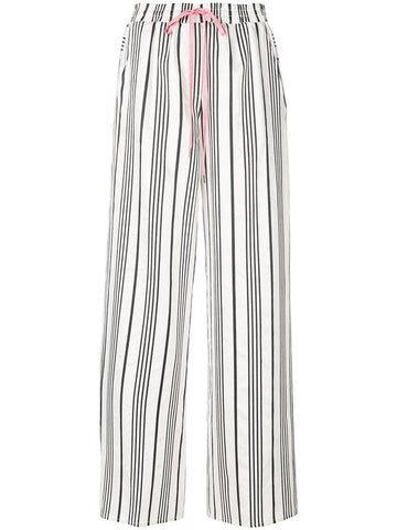 stripe drawstring trousers