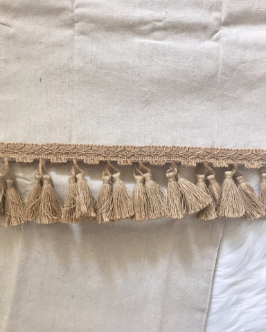 Magnolia Burlap Tassel Table Runner - Made In-House