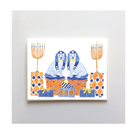 Latke & Knish Hannukah Card