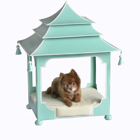 Parisian Blue and White Pagoda Dog Bed