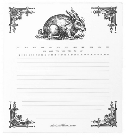 Custom Paper Planner - Rabbit