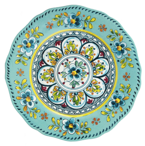 Italian Indoor/Outdoor Dinnerware - Madrid Turq