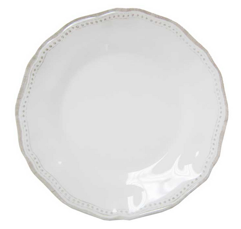 Italian Indoor/Outdoor Dinnerware - Provence Solid White