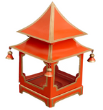 Mini Pagoda Lantern - Orange & Gold