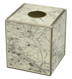 Tissue Box - Paris Map