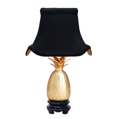 Pagoda Pineapple Lamp with Silk Shade
