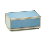 Nickel and Glass Matchbox Cover - Blue Skin