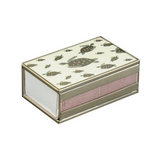 Nickel and Glass Matchbox Cover -  Green Turtle