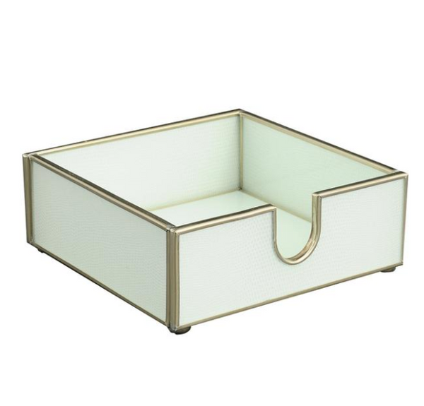 Cocktail Napkin Tray - White Lizard
