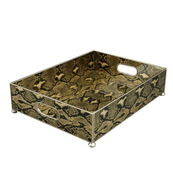 Handle Tray - Gold Python
