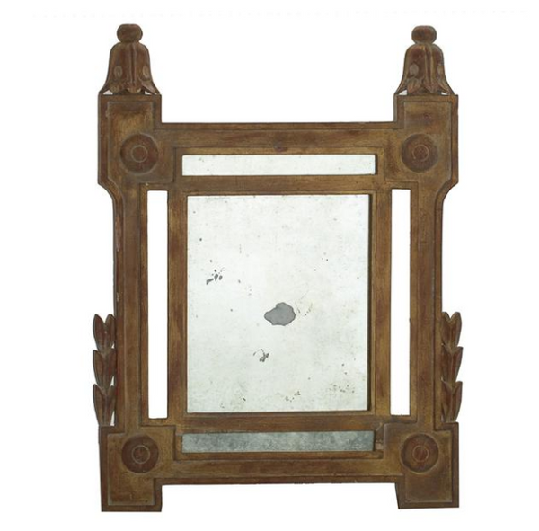 Italianate Hand Carved Wood Mirror