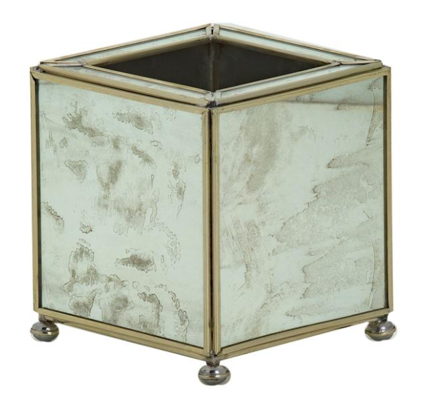 Mini Square Planter - Antique Mirror