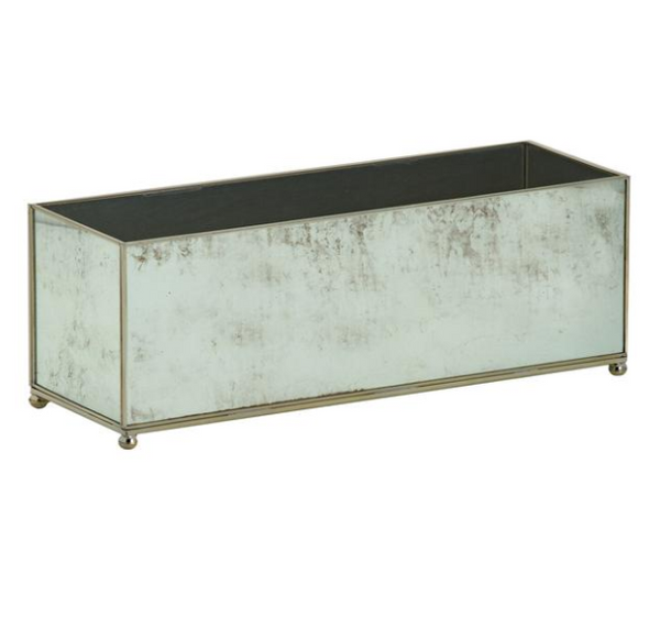 Small Rectangular Planter - Antique Mirror