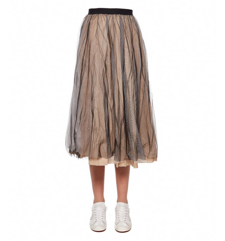 mid length tulle skirt
